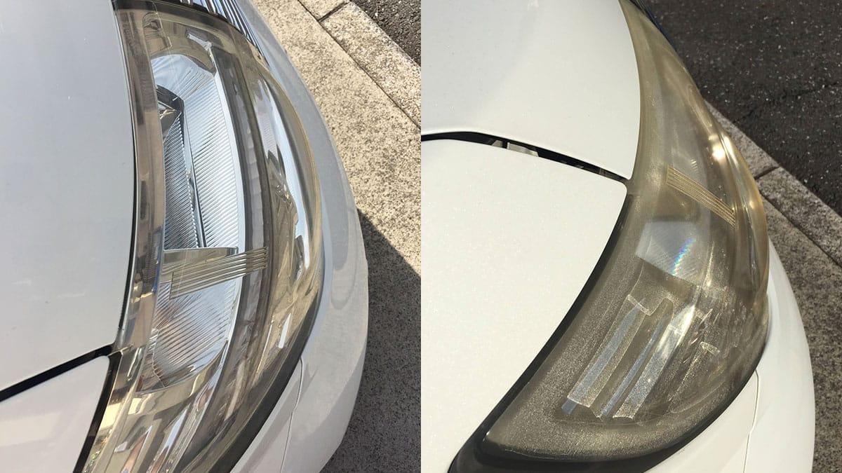 黄ばんだヘッドライトも新車の輝き!ピカピカになったヘッドライトは、見た目も心も清々しくなるのでオススメ!